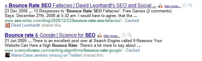 Bounce Rate SERP