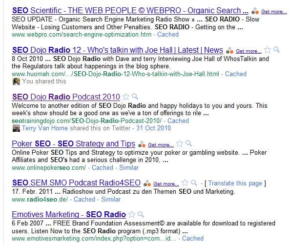 Social Search Logged in