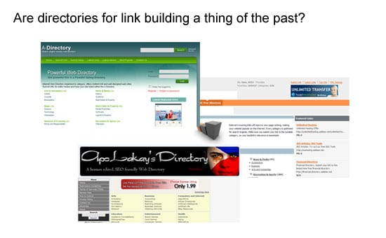 Google highlights directories as inorganic
