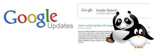 Panda, Penguin and Search Quality updates