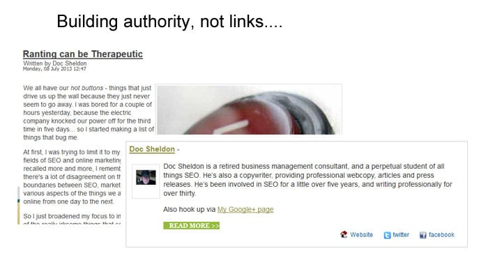 Build authority not links