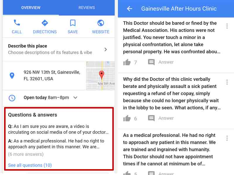 Google Questions and Answers visible in Mobile Results