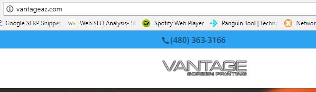 Vantage not secure