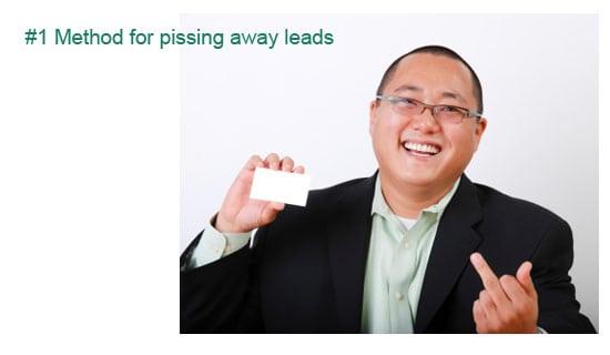 Losing sales leads