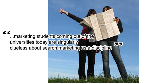 Universities don't get internet marketing