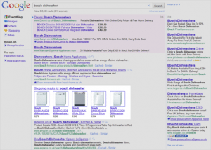 Shopping SERP Results