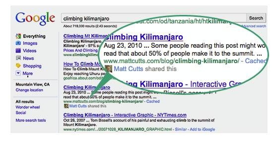 Google Social Search 2011