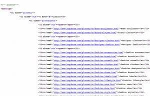 Hidden Links on Hugo Boss website