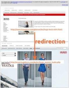 Hugo Boss Spam - Cloaking