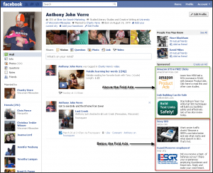 Above the Fold and Below the Fold FB Ads