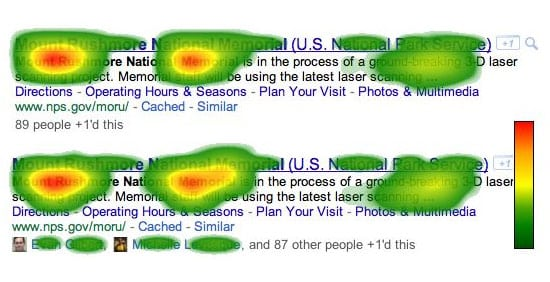 Google Social Search Heat Map
