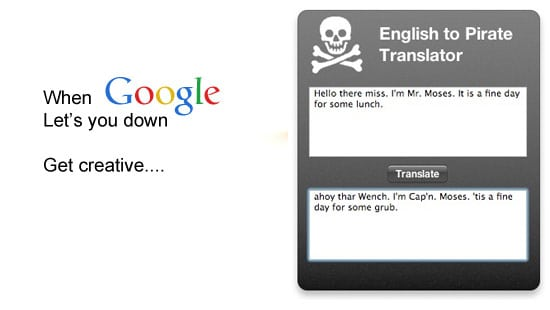 Google Translate alternative