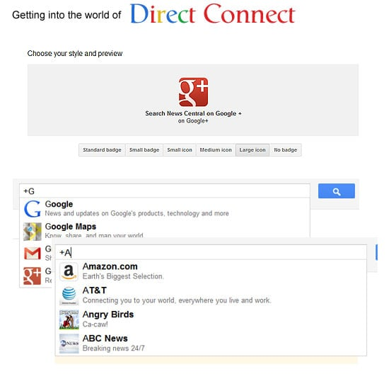 Google Direct Connect