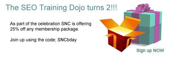 SEO Training Dojo birthday