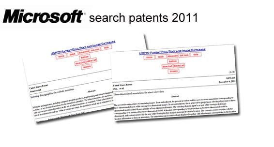 Microsoft search patents 2012