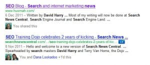 Dave Harry SERP
