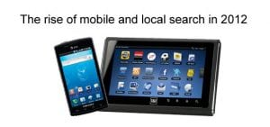Rise of local search in 2012
