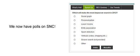 Polls on SNC