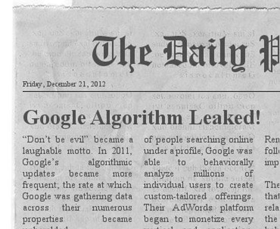 google algo leaked