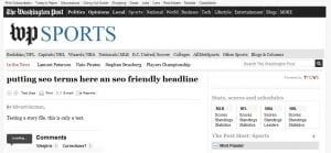 Washington Post SEO Whoops
