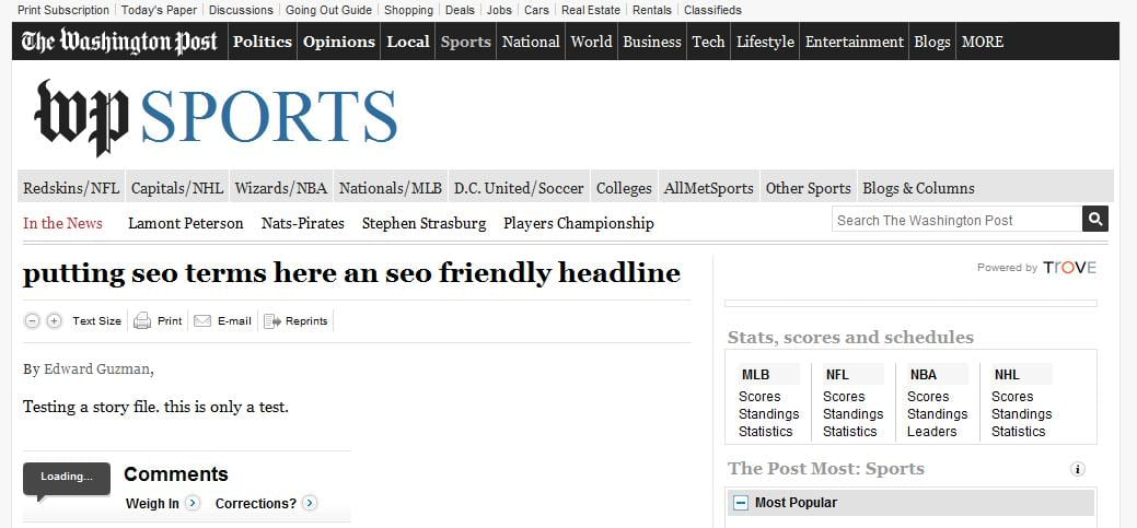 Washington Post SEO Whoops