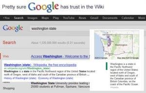 Googel trusts Wikipedia