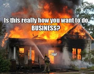 firefighting in business
