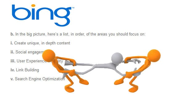 Bing SEO Advice