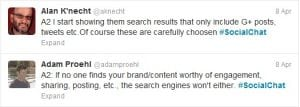 #social chat twitter excerpt four