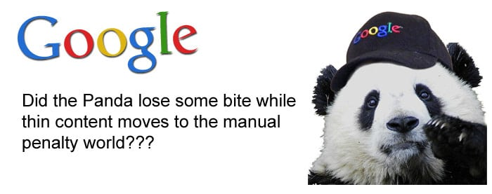 Google manual penalty for thin content