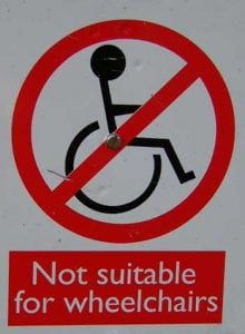 No wheelchair access
