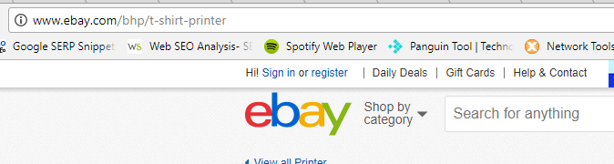 eBay not secure