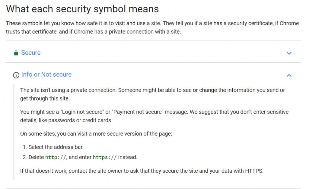 """Explanation of the """"i-info"""" icon"""