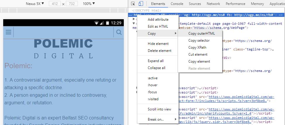 Copy OuterHTML