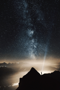 Looking into a starry sky