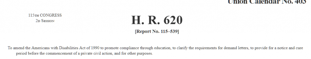 Screenshot of H.R. 620 text