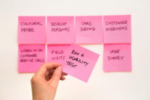 Sticky notes for ux testing