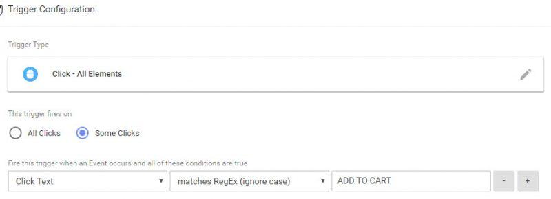 Google Tag Manager Click Trigger