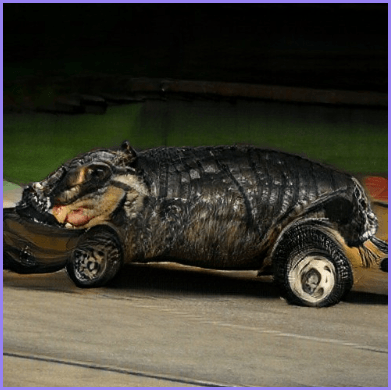 """Hippo-automobile"" compositional image"