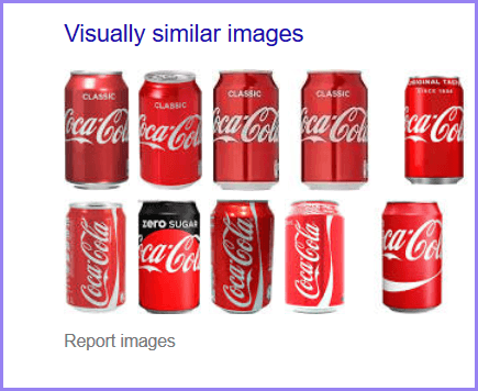 similar images of canned coke